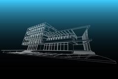 Architecture abstract, 3d illustration Stock Illustration