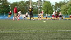 American football. Training, running, playing. Stock Footage