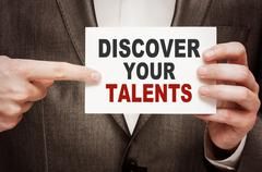 Discover Your Talents Stock Photos
