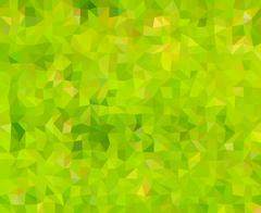 Natural - green and yellow, abstract mosaic low polygon backrgound Stock Illustration
