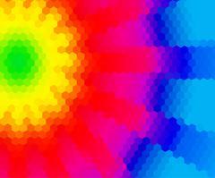 Rainbow abstract fantasy mosaic low polygonal  backrgound Stock Illustration