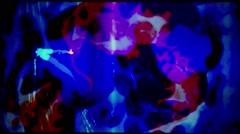 36mm filmstrip blue liquid Grunge Stock Footage
