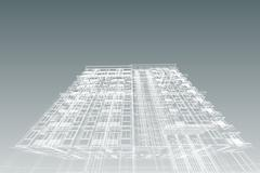 Architecture abstract, 3d illustration asian modern building Piirros