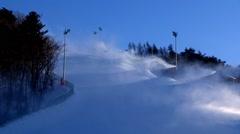 Ski resort in Pyeongchang-gun, Korea Stock Footage