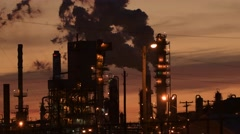 Smokestack from industrial plant - stock footage