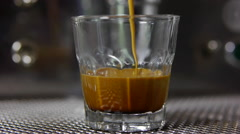 Espresso shot Stock Footage