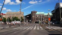 Helsinki. Sights. City streets. Finland. Arkistovideo