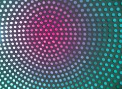 Dotted background of the colorful circles, magenta and cyan geometric pattern. - stock photo