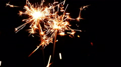 Sparklers. Christmas and New Year Lights. Stock Footage