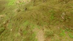 Aerial PERU: Unique Ecosystem (Lachay Hills) Stock Footage