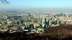 Umyeon mountain in Seoul, Korea Stock Footage