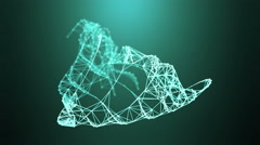 Vector mesh, modern technology abstract background. Stock Footage