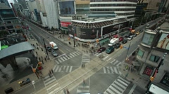 Aerial Time Lapse of Busy Day at Yonge and Dundas Stock Footage