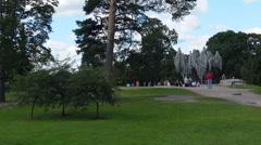 Jan Sibelius monument in Helsinki. Organ. - stock footage