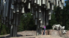 Jan Sibelius monument in Helsinki. Organ. Stock Footage