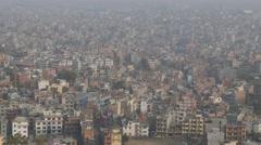 Birds circling above city,Kathmandu,Swayambhunath,Nepal Stock Footage