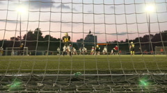 American football. Smooth and slow slider shot. Stock Footage
