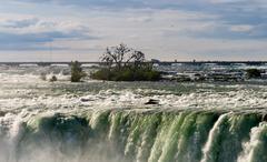 Canadian Horseshoe Falls at Niagara Stock Photos
