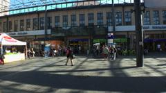 Railway station in Helsinki. Stock Footage