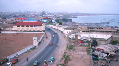View over city of accra, ghana Stock Footage