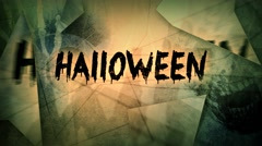 Scary Halloween Greeting Animated Shards 4K Loop Stock Footage