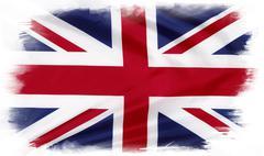 Union Jack flag on plain background - stock illustration