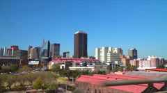 Tracking past the CBD of Johannesburg, South Africa Stock Footage