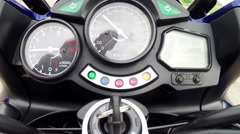 Ignition sports bike - stock footage