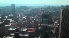 High angle view of downtown Johannesburg, South Africa - stock footage
