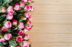 Rose flowers arranged with copyspace for your text Kuvituskuvat