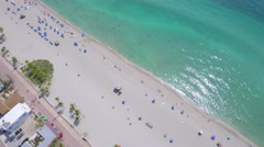 Aerial footage of Hollywood Beach Florida USA Arkistovideo