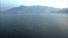 Reservoir landscape in Gongju-si, Chungcheongnam-do in Korea Stock Footage