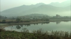 Temple landscape in Gongju-si, Chungcheongnam-do in Korea Stock Footage