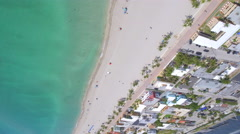 Upside down aerial beach video Stock Footage
