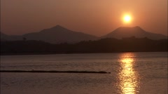 Sunrise and Seascape in Gwangyang-si, Jeollanam-do?Province, Korea Stock Footage