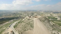 Herodion (Herodium) - Fortress circle view (Left to right) Stock Footage