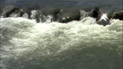 Seomjingang River in Gurye-si, Jeollanam-do Province, Korea Stock Footage