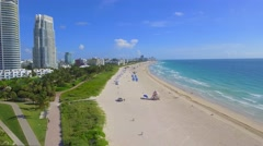 Miami Beach south of 5th Stock Footage