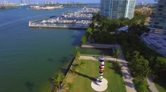 South Pointe Park Miami Beach Marina 4k Stock Footage