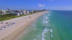 Aerial video of condos on Miami Beach Stock Footage