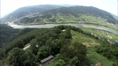 Seomjingang River in Gurye-si, Jeollanam-do Province, Korea Stock Footage