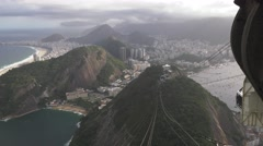Scenic of Copacabana Beach and Rio from Sugarloaf Mountain Stock Footage