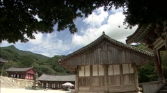 Temple in Gurye-si, Jeollanam-do Province, Korea Stock Footage