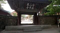 Temple in Gurye-si, Jeollanam-do Province, Korea Stock Footage