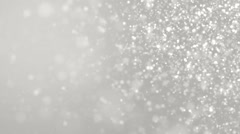 Elegant silver abstract with snowflakes. Stock Footage