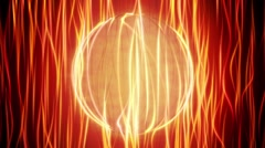 Orange Energy Sphere Looping Background Stock Footage