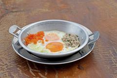 Indochina pan fried egg Stock Photos