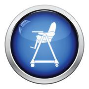 Baby high chair icon Stock Illustration