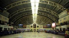 Hua Lamphong train station in Bangkok, Thailand, time lapse Stock Footage