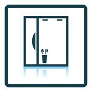 Bathroom mirror icon - stock illustration